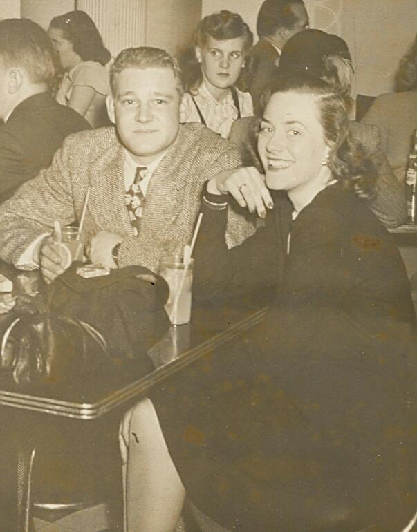 Gramma and Grampa 1945